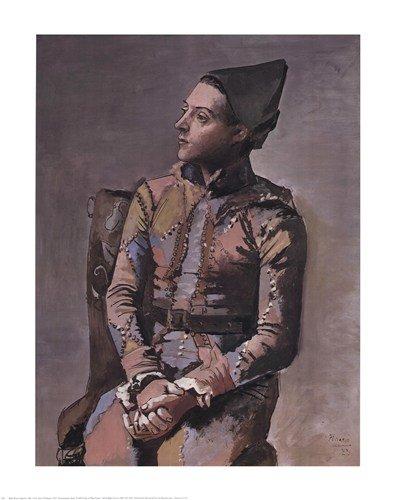 Seduti Arlecchino By Pablo Picasso 22 X 28 Art Print Poster Amazon