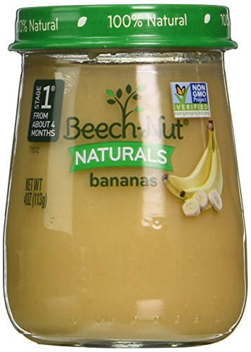 Beech-Nut Stage 1 Baby Food, Bananas, 4 Ounce (Pack of - Dessert Baby Food