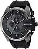 Diesel Men's Chief Series' Quartz Stainless Steel and Silicone Casual Watch, Color:Black (Model: DZ4378)