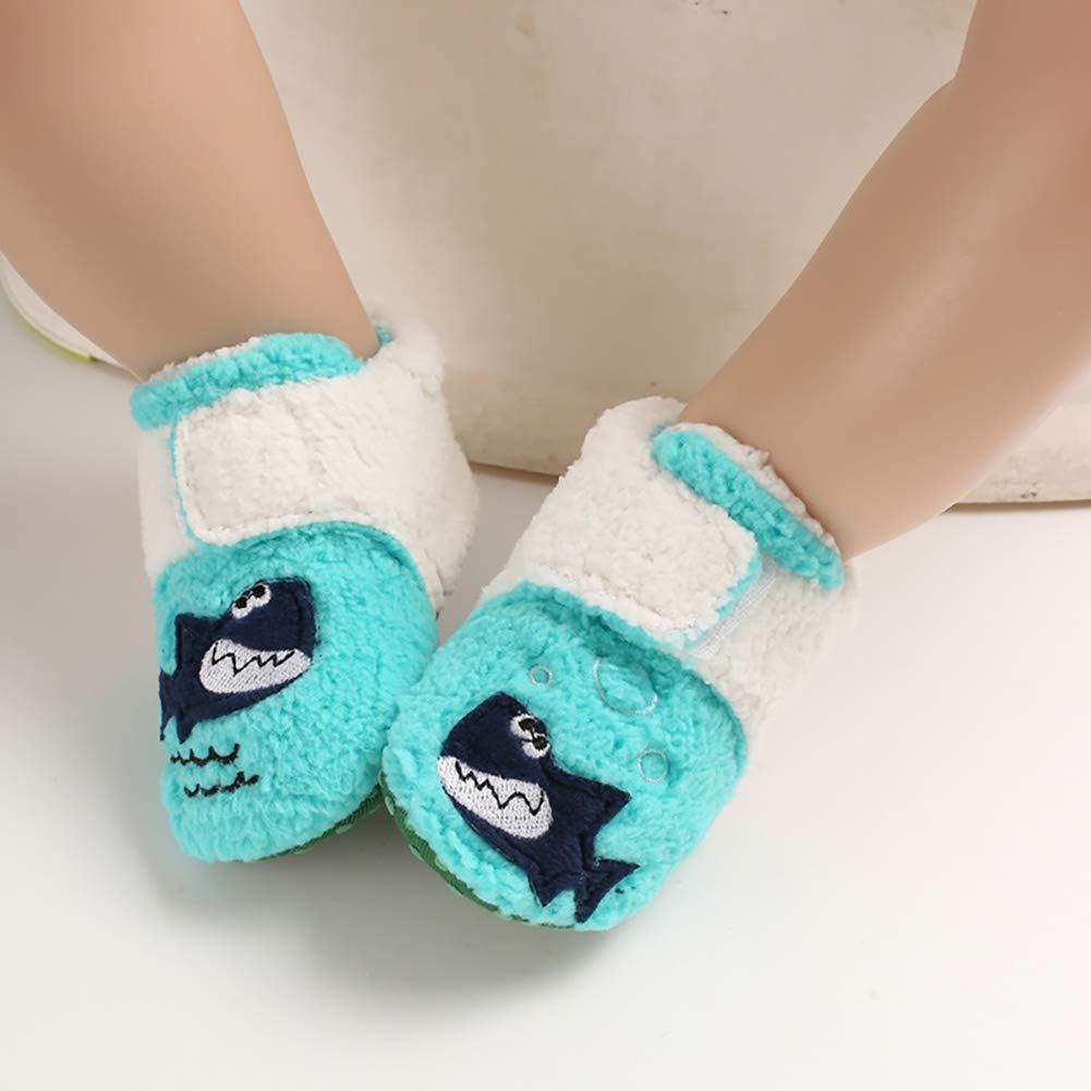 Miyanuby Beb/é Ni/ño Ni/ñas Zapatos Al aire libre Antideslizante Parte Inferior Baja Primeros Zapatos para Caminar Ni/ño Invierno Zapatillas C/álidas 0-12 Meses