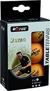 V3TEC Tischtennisschläger TT Ball 3-Stern orange