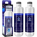 Colpure LT1000P Refrigerator Water Filter Compatible with LG LT1000P, LT1000P, LT1000PC, MDJ64844601, 9980 Water Filter, 2 Pack (Blue)