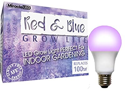 Miracle LED 604436 Red & Blue Spectrum LED Grow Light Replaces 100W
