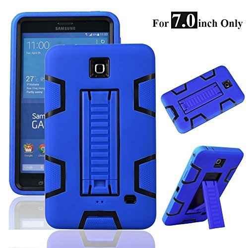 MagicSky Galaxy Tab 4 7.0 Case, 3in1 Heavy Duty Hybrid Shockproof Armor Kickstand Case for Samsung Galaxy Tab 4 7.0 inch T230 /T231/ T235 Galaxy Tab 4 Nook Cover - Black/Blue