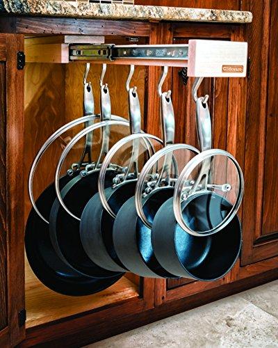 Dual-ing Glideware Cookware Organizer with 14 Hooks by Glideware, LLC by Glideware (Image #2)