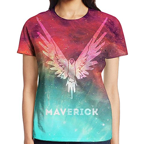 KOHDIAS Logan Paul Maverick The Parrot Women's 3D Print T Shirts (Parrot Print T-shirt)