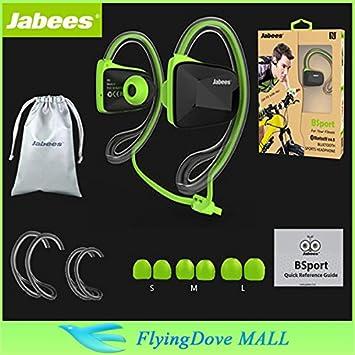 MU Jabees Bsport universal bluetooth deportes profesionales 4.0 auriculares estéreo Natación impermeable auricular auriculares inalámbricos +