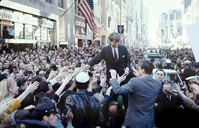 Print Art POSTER CANVAS Bobby Kennedy on Presidential Campaign Trail