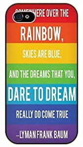 iPhone 6 Somewhere over the rainbow, skies are blue and the dreams that you dare... come true - black plastic case / Life and dreamer's quotes
