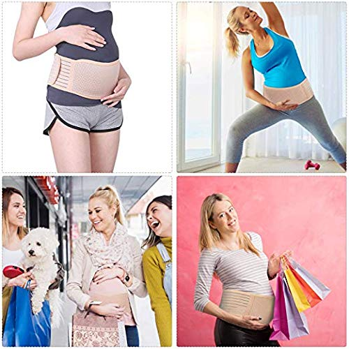 Back Belt Support, Maternity Belt Pregnancy Support Belt - Breathable Belly Band That Provides Hip, Pelvic, Lumbar and Lower Back Pain Relief