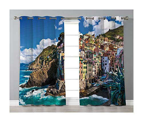 (Goods247 Blackout Curtains,Grommets Panels Printed Curtains for Living Room (Set of 2 Panels,55 by 63 Inch Length),Farm House Decor)