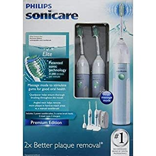 Philips Sonicare CleanCare HX5910 Power Toothbrush with QuadpacerTwin Pack (2 Handles, 3 Standard Brush Heads, 2 Charger Bases, 2 Travel Cases) Premium Edition (B005JRZJBO) | Amazon price tracker / tracking, Amazon price history charts, Amazon price watches, Amazon price drop alerts