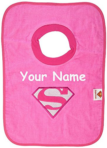 Personalized Birthday Bib (Personalized Bumkins Supergirl Pullover Baby Bib)