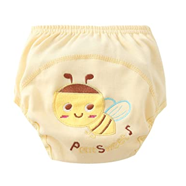 Goodkids Baby Toddler Breathable Cotton Training Pants Waterproof Cartoon 4 Pcs Potty Shorts Underwear