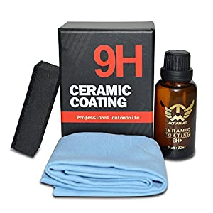 HKTIANMEI 9H High Gloss Ceramic Car Coating Kit, Anti-Scratch Exterior Care Paint Sealant 9H Hardness 30ML (1Pcs)