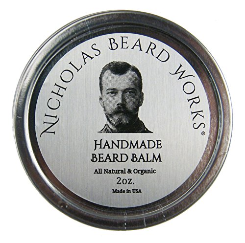 Nicholas Beard Works Premium Made-To-Order All Natural & Organic Handmade Beard Balm Turkish Mocha 2oz Twist Top Tin