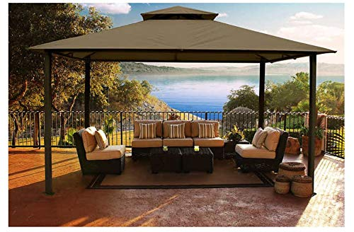 Kingsbury 11 x 14 Soft Top Gazebo with Sunbrella cover COCOA