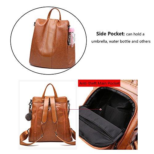 Fashion Rucksack theft Backpack Herald Bag School Grey Waterproof Anti Shoulder Women dZqxxCwp