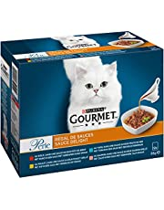 Gourmet Perle Sauce Delight Kattenvoer, Natvoer met Rund, Tonijn of Kip in Saus, 12 x 85g - doos van 4 (48 portiezakjes; 4,08kg)