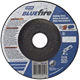 Norton BlueFire Type 27 Abrasive Depressed Center Wheel, Zirconia Alumina, 13580 rpm, 4-1/2 Diameter x 1/4 Thickness, 7/8 Arbor (Pack of 2) by Norton Abrasives - St. Gobain