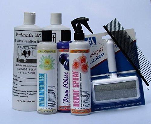 White Standard Poodle Coat Care Grooming Kit FREE BONUS by Kelco