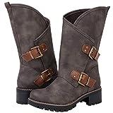 GLBALWIN Women's 18YY01 Grey Fashion Boots