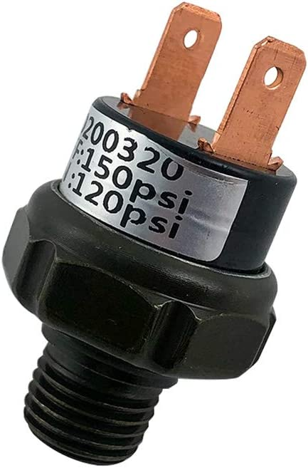 QWORK 120-150 PSI Pressure Switch Tank Mount Type Thread 1//4 NPT