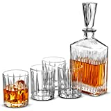 5-Piece European Style Whiskey Decanter and Glass Set - With Magnetic Gift Box