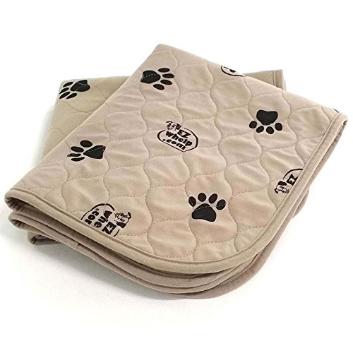 "EZwhelp 24"" x 36"" (Value 2-Pack) Machine Washable, Reusable Pee Pad/Quilted, Fast Absorbing Dog Whelping Pad/Waterproof Puppy Training Pad/Housebreaking Absorption Pads from EZwhelp"