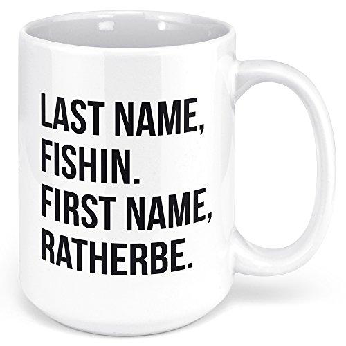 Ice Fishing Coffee Mug - Fish Themed Gifts for Women & Men - Fly Trout Bass Fishing Coffee Mug - Fisherman Mug - 15oz Ceramic