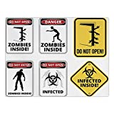 iPrint Rectangular Satin Tablecloth,Zombie Decor,Warning Signs for Evil Creatures Paranormal Construction Do Not Open Artwork,Multicolor,Dining Room Kitchen Table Cloth Cover