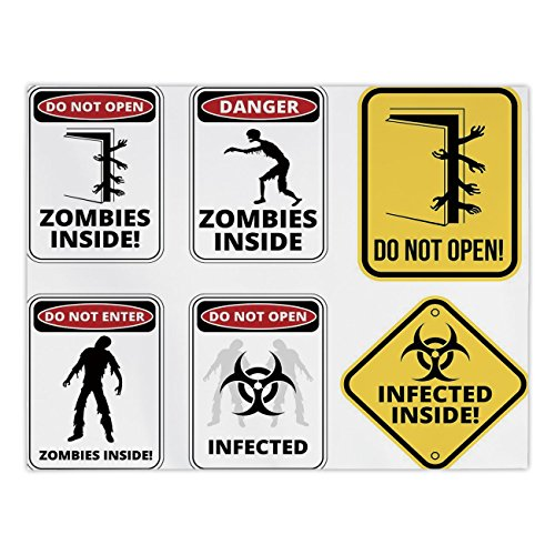 iPrint Rectangular Satin Tablecloth,Zombie Decor,Warning Signs for Evil Creatures Paranormal Construction Do Not Open Artwork,Multicolor,Dining Room Kitchen Table Cloth Cover by iPrint