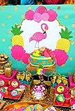 FLAMINGO Birthday Party- Flamingo BACKDROP - Hawaiian Luau- Pool Party - Flamingo Photo Backdrop - DIGITAL DOWNLOAD