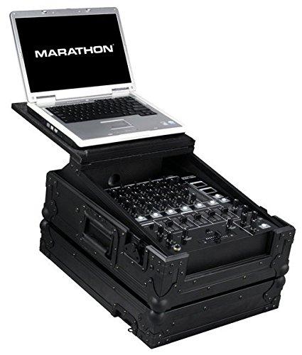 [해외]마라톤 비행로드 블럭 시리즈 케이스 MA-12Mixltblk, 파이오니어, 제미니, 노트북 선반이있는 Numark처럼 12 인치 믹서 용/Marathon Flight Road Blk Series Case MA-12Mixltblk for 12-Inch Mixer Like Pioneer, Gemini, Numark With Laptop Shelf