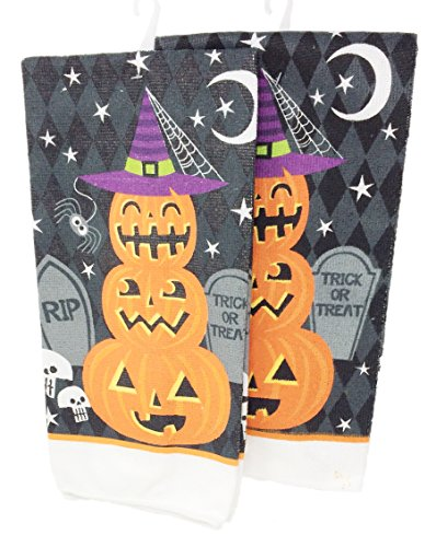 Whimsical Halloween Themed Hand Towels (Halloween Themed Dishes)