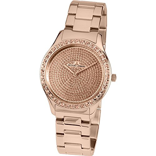Jacques Lemans ROME 1-1841ZL Wristwatch for women With Swarovski crystals