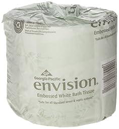 Georgia-Pacific Envision 19881/01 White 1-Ply Embossed Bathroom Tissue, (WxL) 4.000\