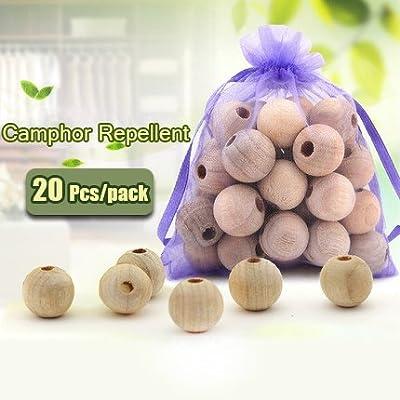 Honana HN-CP1 20Pcs Wood Camphor Pest Repellent Anti Bug Moth Cedar Granular Balls Wardrobes by BinStore
