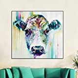 BFY Frameless Modern Abstract Oil Painting Female Ox-head Huge Wall Decor Art On Canvas