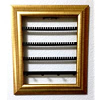 """The Jewelry Frame! Decorative Jewelry Display Organizer in a Picture Frame! (8""""x10"""", Gold)"""