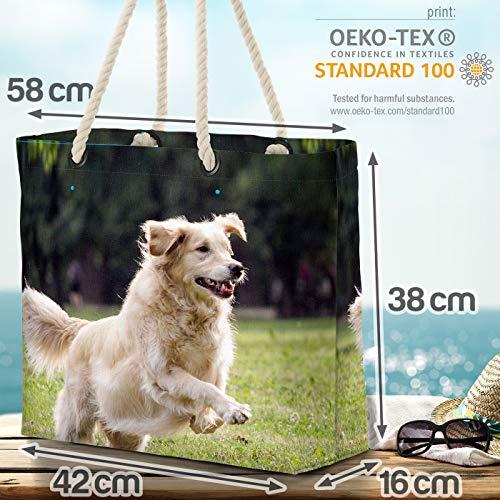 VOID Golden Retriever strandväska Shopper 58 x 38 x 16 cm 23 L XXL shoppingväska väska resväska Beach Bag