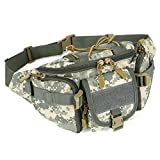 Cheap X-Freedom Waist Pack Bag Military Outdoor Fanny Pack Hiking Climbing Hip Belt Bumbag, Gray Camouflage