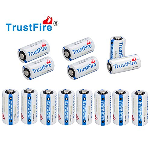 Trustfire Cr123A Batteries Lithium CR 123a 3V Batteries, 14-pack by Jisell