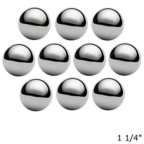 West Coast Paracord 1 1/4 Inch Chrome Steel Bearing Balls for Paracord Projects (10 Pack) by West Coast Paracord