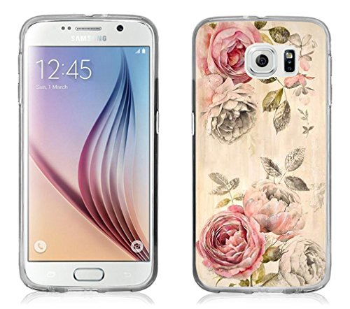 S7 Case - Case For Galaxy S7 - Replacement Cover For Samsung S7 Retro Flower Design (Flexible TPU Protective Silicone) (Design Silicone)
