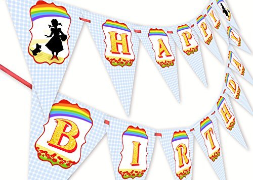 Wizard of Oz Happy Birthday Banner Pennant]()
