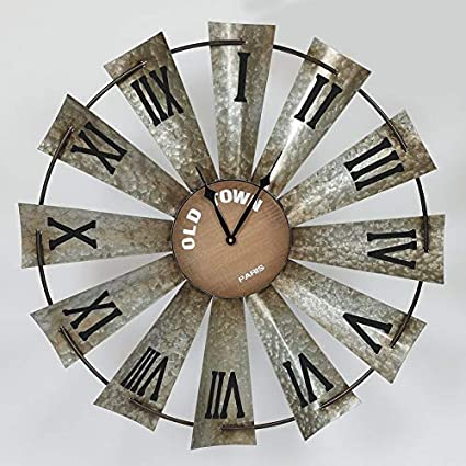 Amazoncom Gracie Oaks Oversized Roman Numerals Wall Clock Wind
