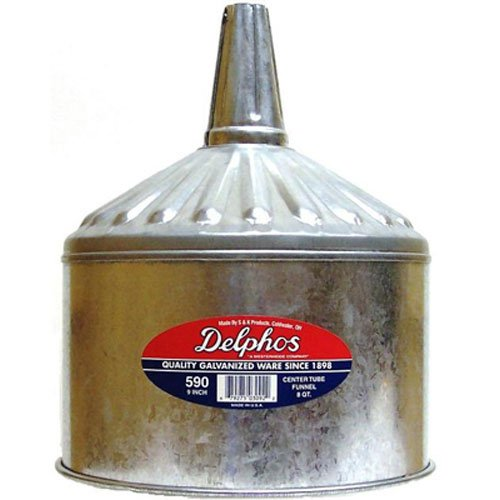 S&K Products 590 Funnel (8QT (Galvanized Funnel)