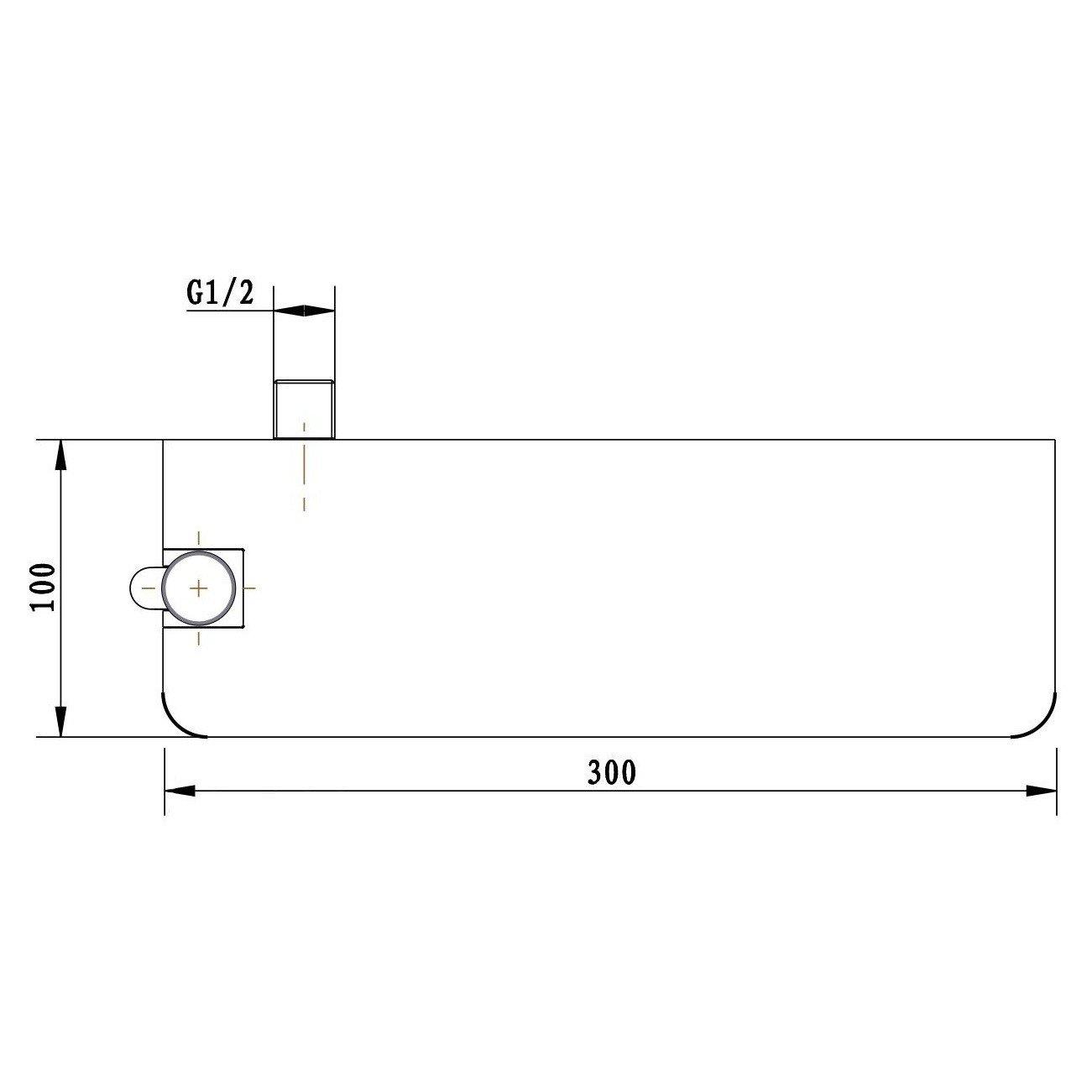 Senza doccetta Mensola portasapone per doccia DS40 con gancio a muro e supporto per doccetta Senza flessibile