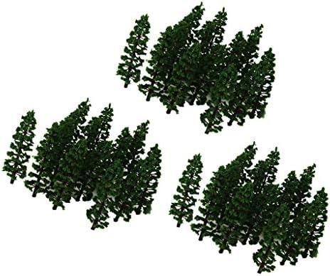chiwanji モデルツリー 樹木 木 鉢植え用 HO 1:100 鉄道模型 風景 モデル トレス 情景コレクション ジオラマ 60本入り